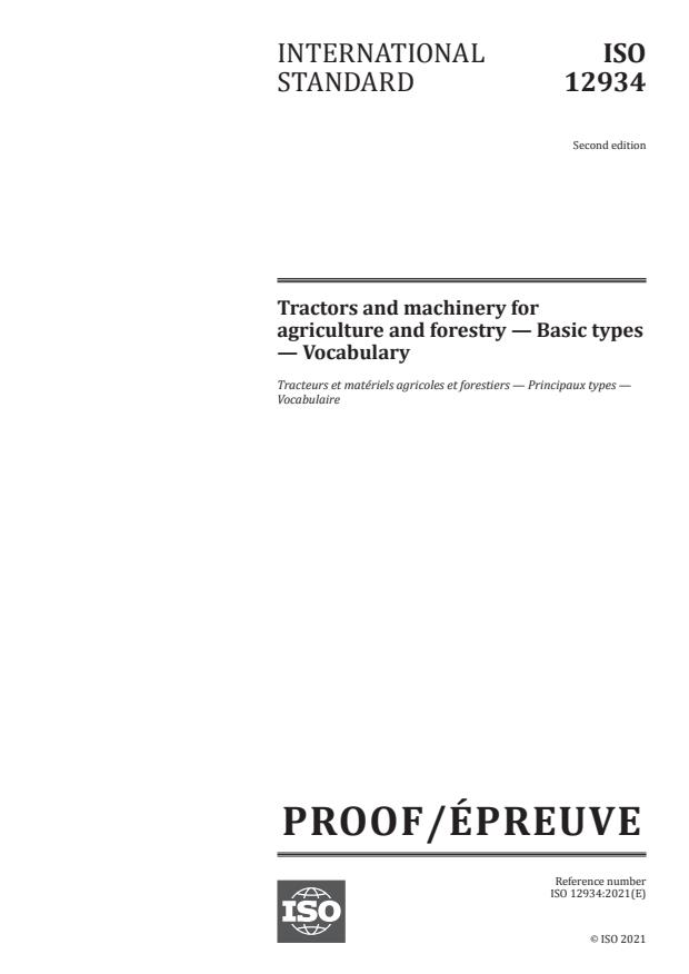 ISO/PRF 12934:Version 15-maj-2021 - Tractors and machinery for agriculture and forestry -- Basic types -- Vocabulary