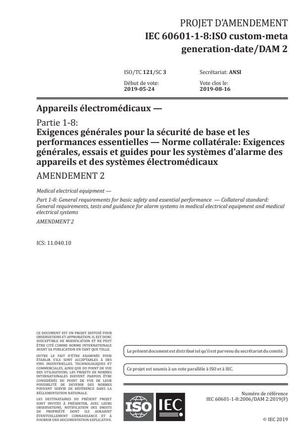 IEC 60601-1-8:2006/Amd 2:2020