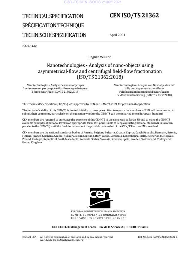 SIST-TS CEN ISO/TS 21362:2021