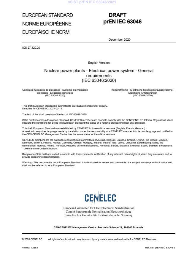 oSIST prEN IEC 63046:2021 - BARVE na PDF-str 16,49,91. Vodni pretisk na sredini strani, na PDF-str 72