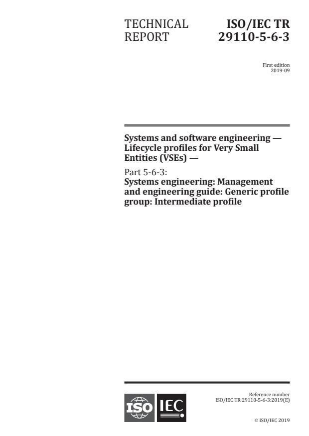 ISO/IEC TR 29110-5-6-3:2019