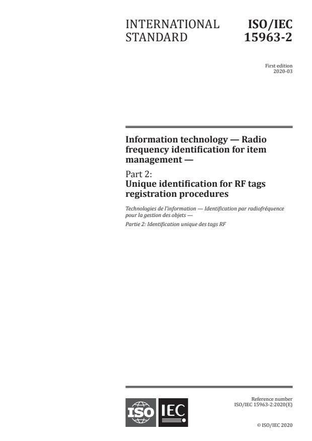 ISO/IEC 15963-2:2020