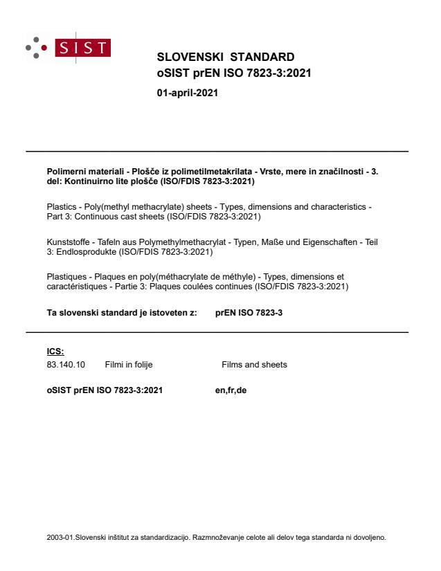 oSIST prEN ISO 7823-3:2021