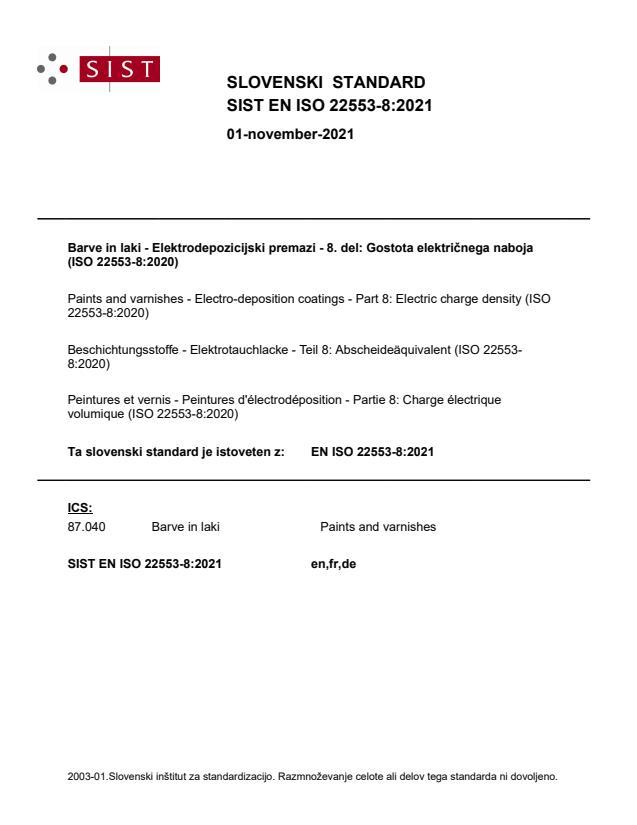 SIST EN ISO 22553-8:2021