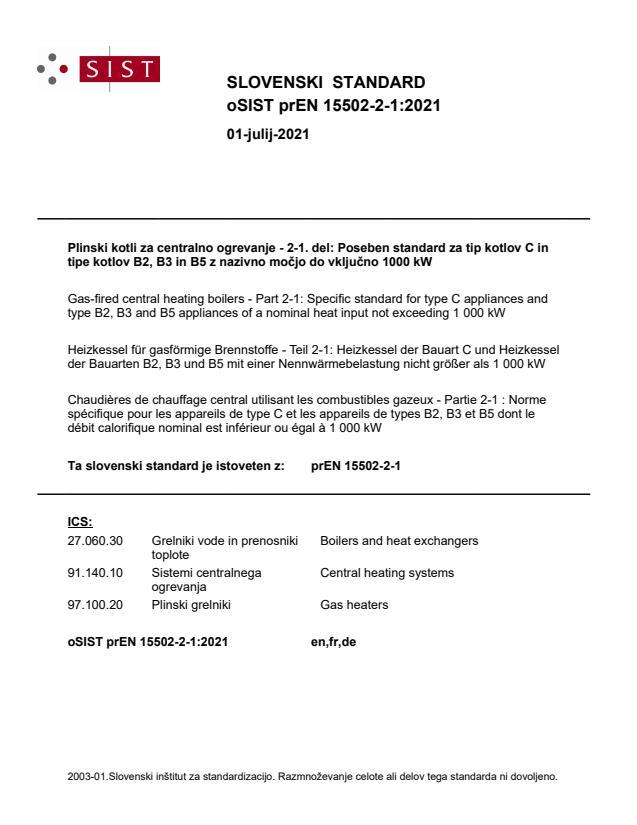 prEN 15502-2-1:2021