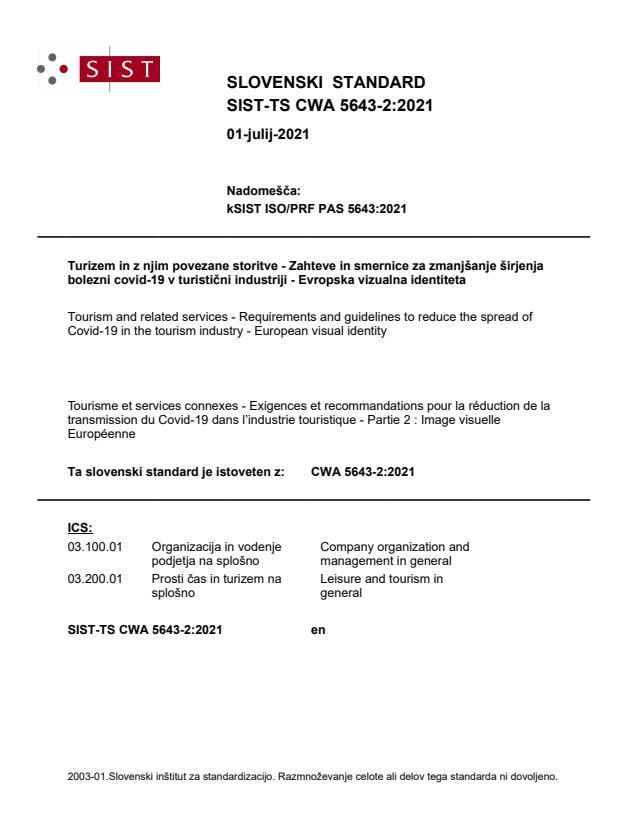 SIST-TS CWA 5643-2:2021 - BARVE na PDF-str 11