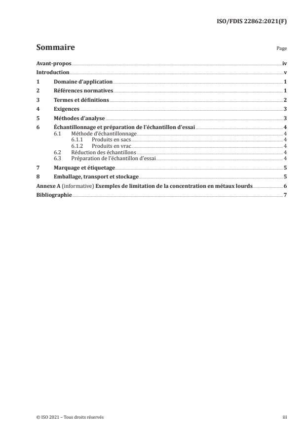 ISO/FDIS 22862 - Engrais et amendements -- Engrais composé -- Exigences générales