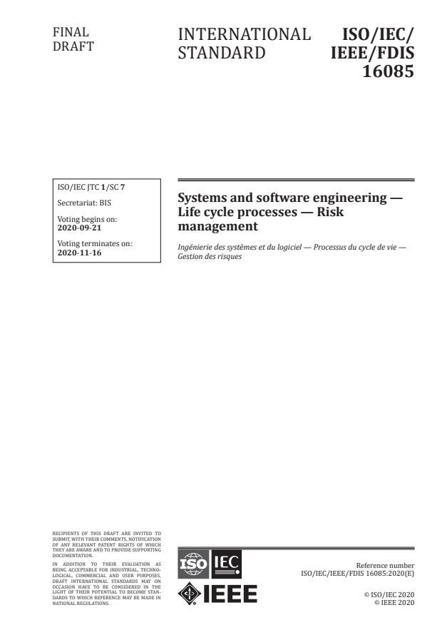 ISO/IEC/IEEE 16085:2021