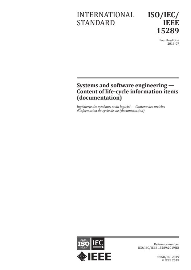 ISO/IEC/IEEE 15289:2019