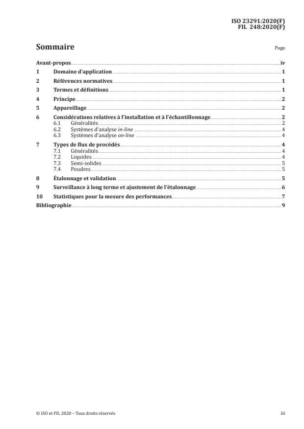 ISO 23291:2020 - Lait et produits laitiers -- Lignes directrices pour l'application de la spectrométrie infrarouge in-line et on-line