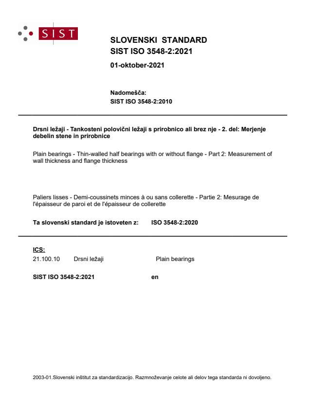 SIST ISO 3548-2:2021