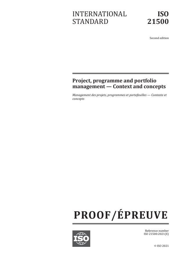 ISO/PRF 21500