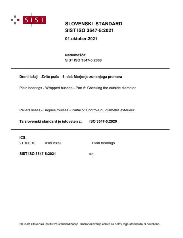 SIST ISO 3547-5:2021