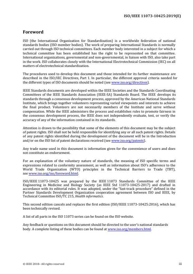ISO/IEEE 11073-10425:2019