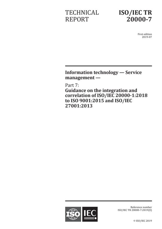 ISO/IEC TR 20000-7:2019 - Information technology -- Service management