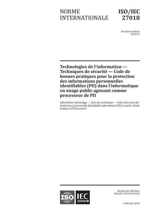 ISO/IEC 27018:2019