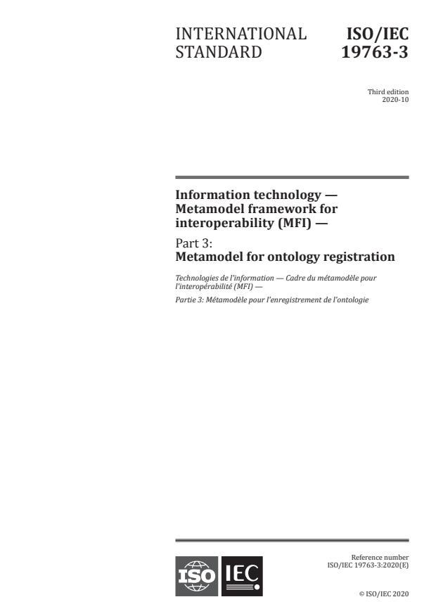 ISO/IEC 19763-3:2020