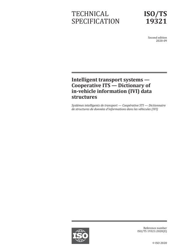 ISO/TS 19321:2020