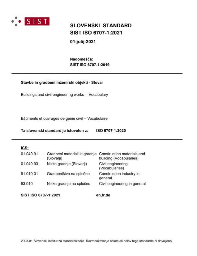 SIST ISO 6707-1:2021