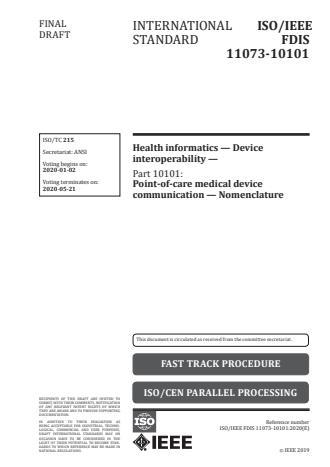 ISO/IEEE 11073-10101:2020