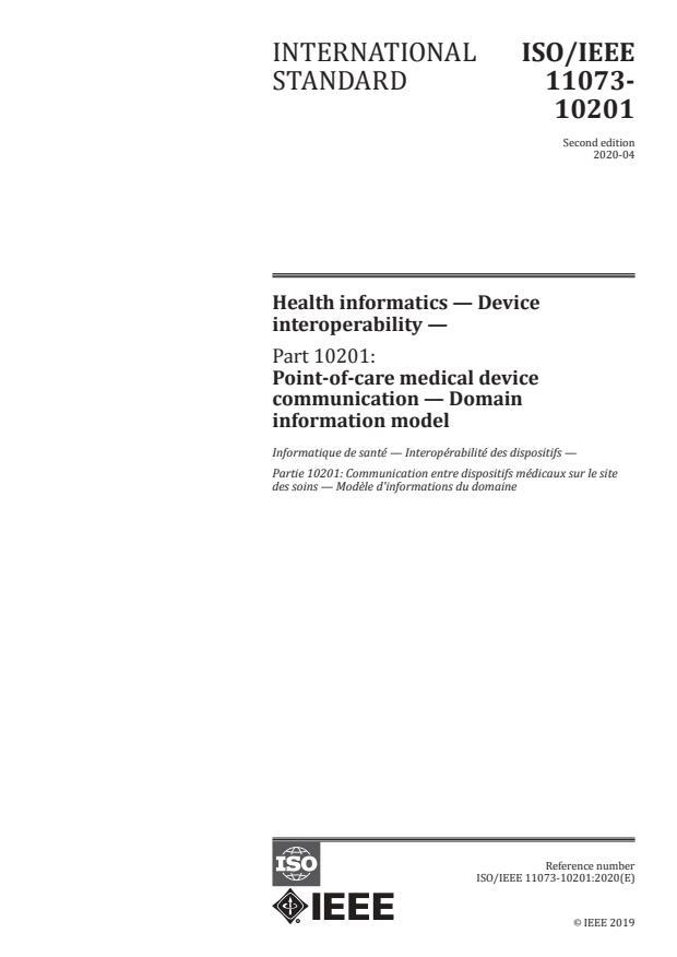 ISO/IEEE 11073-10201:2020