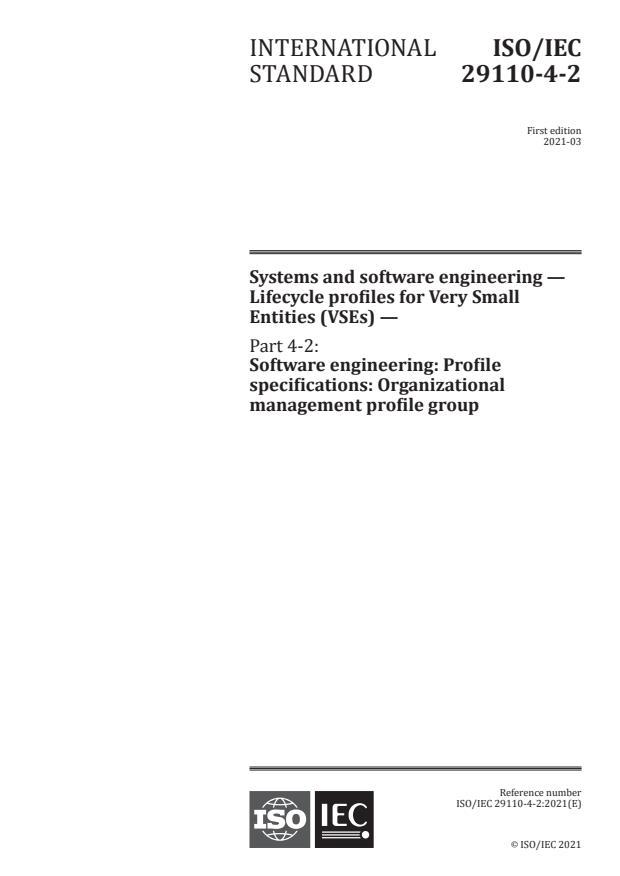 ISO/IEC 29110-4-2:2021