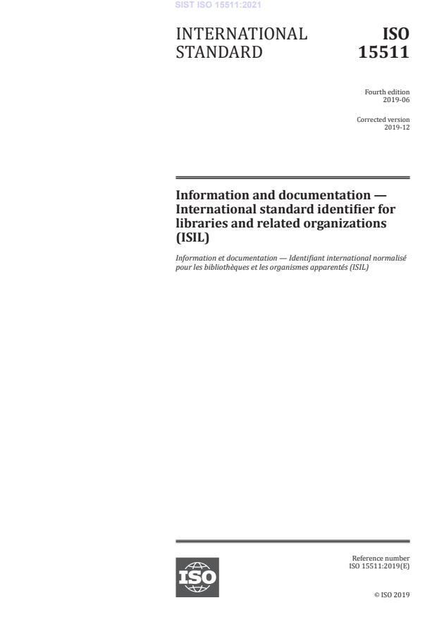 SIST ISO 15511:2021
