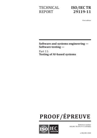 ISO/IEC PRF TR 29119-11:Version 24-okt-2020 - Software and systems engineering -- Software testing