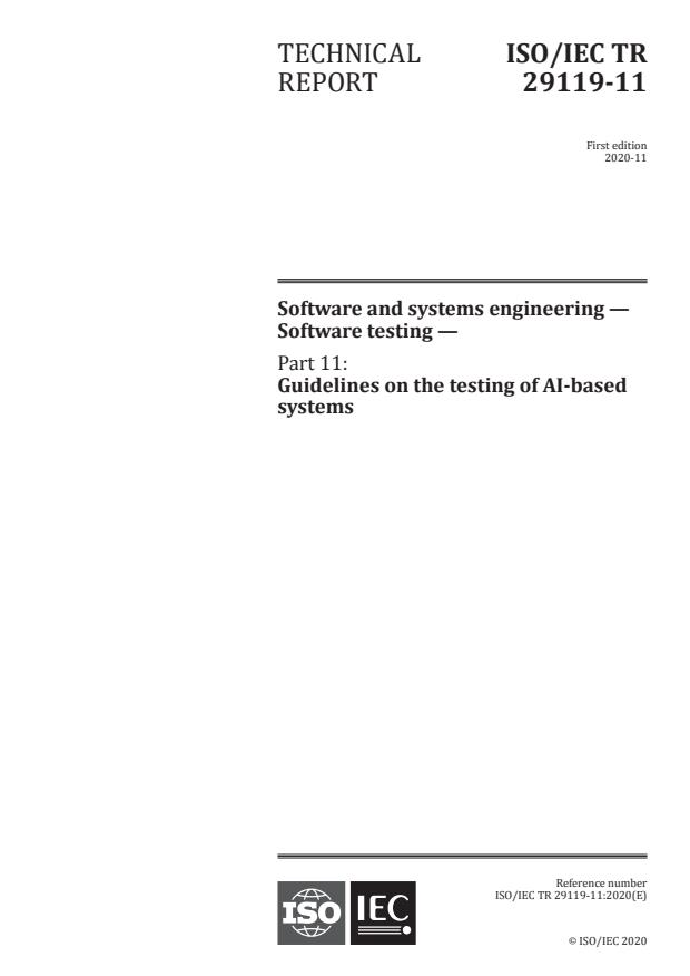 ISO/IEC TR 29119-11:2020 - Software and systems engineering -- Software testing