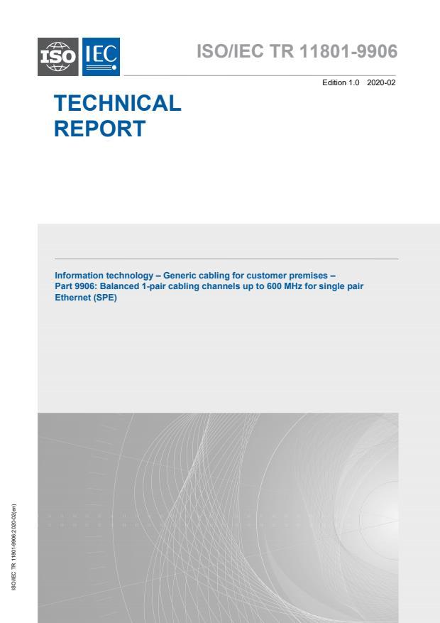 ISO/IEC TR 11801-9906:2020