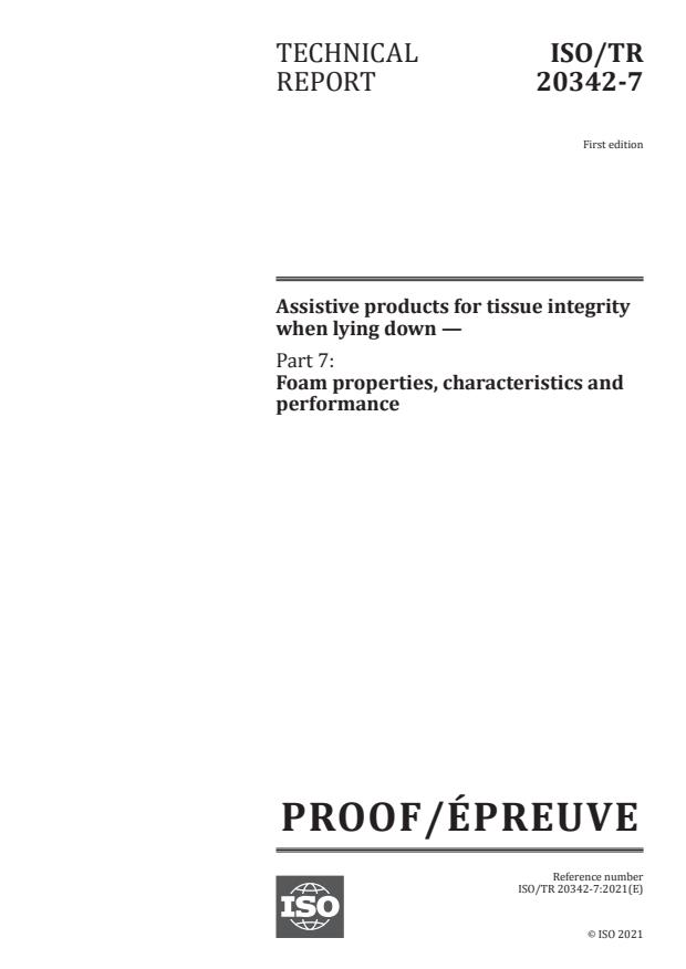 ISO/PRF TR 20342-7:Version 12-jun-2021 - Assistive products for tissue integrity when lying down