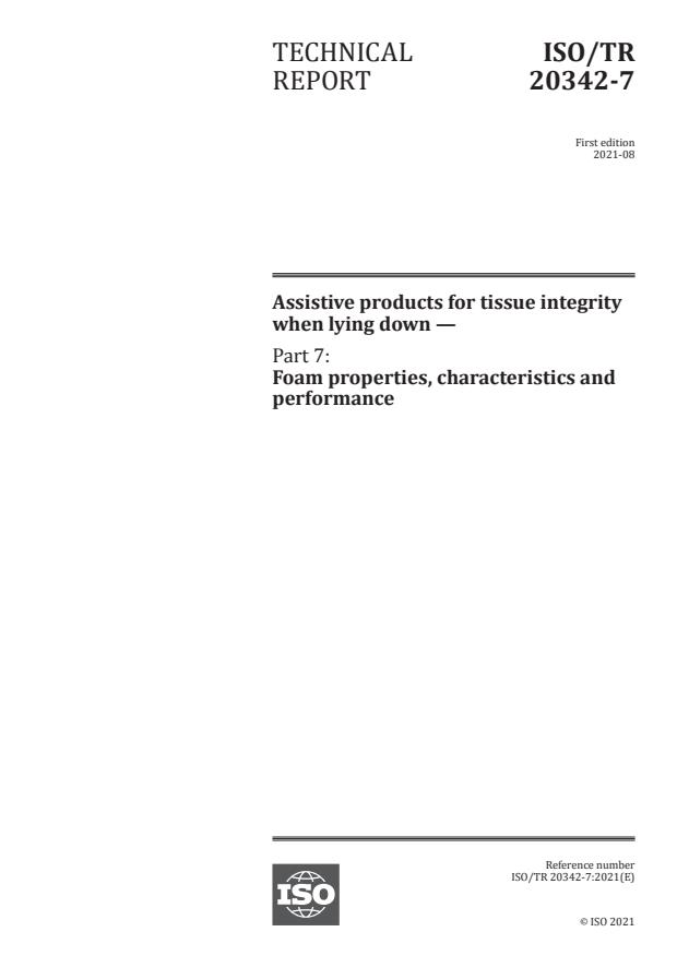 ISO/TR 20342-7:2021 - Assistive products for tissue integrity when lying down