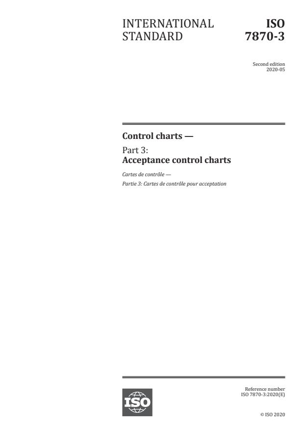 ISO 7870-3:2020 - Control charts