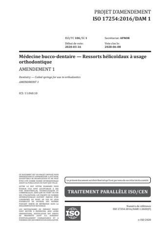 ISO 17254:2016/PRF Amd 1:Version 25-apr-2020