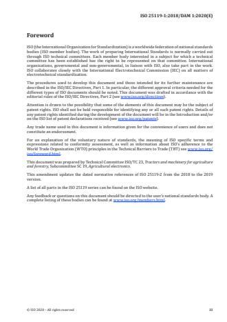 ISO 25119-1:2018/PRF Amd 1:Version 25-apr-2020