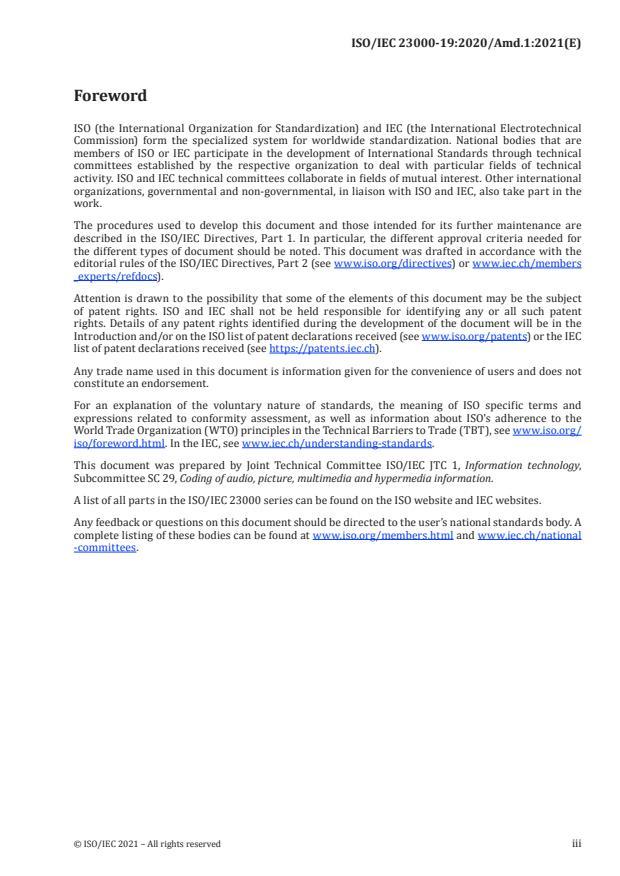 ISO/IEC 23000-19:2020/Amd 1:2021 - Additional CMAF HEVC media profiles