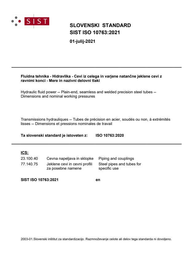 SIST ISO 10763:2021