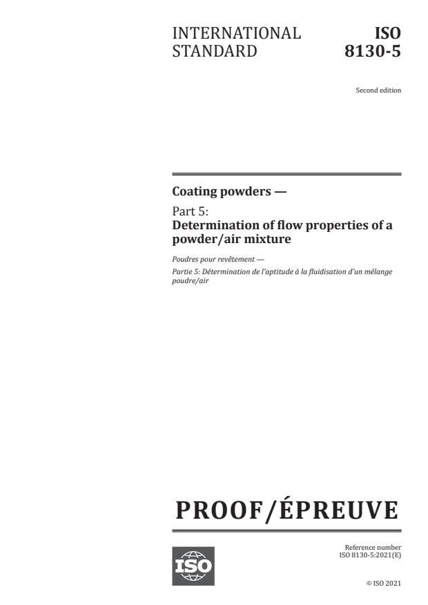 ISO/PRF 8130-5:Version 01-maj-2021 - Coating powders