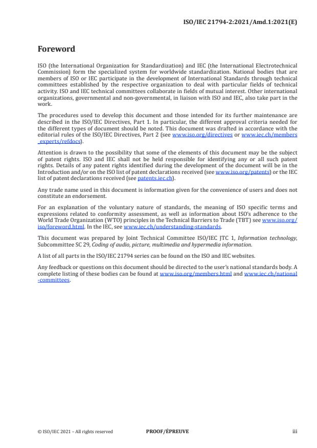 ISO/IEC 21794-2:2021/PRF Amd 1:Version 26-jun-2021 - Profiles and levels for JPEG Pleno light field coding system