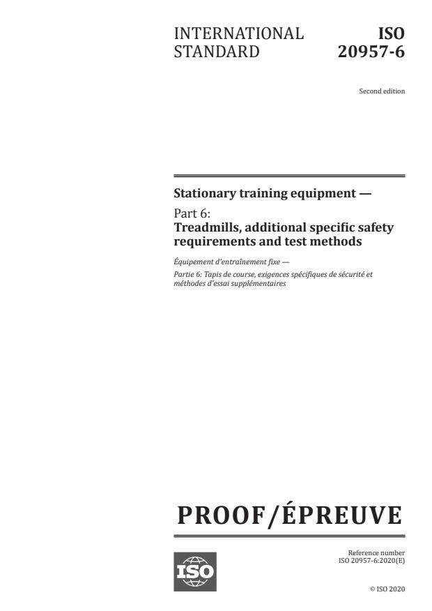 ISO/PRF 20957-6:Version 28-nov-2020 - Stationary training equipment
