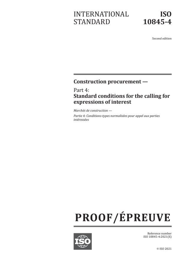ISO/PRF 10845-4:Version 22-maj-2021 - Construction procurement