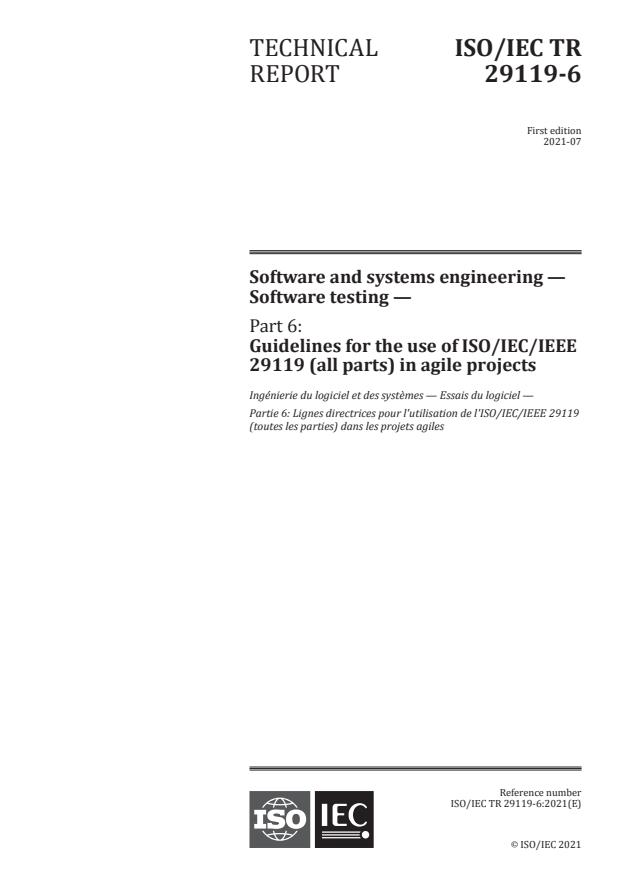 ISO/IEC TR 29119-6:2021 - Software and systems engineering -- Software testing