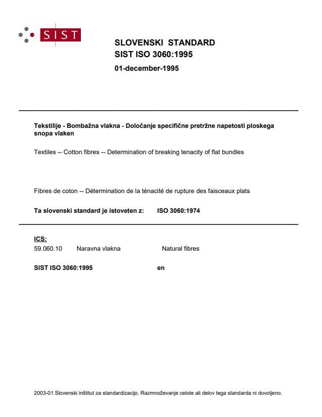 SIST ISO 3060:1995