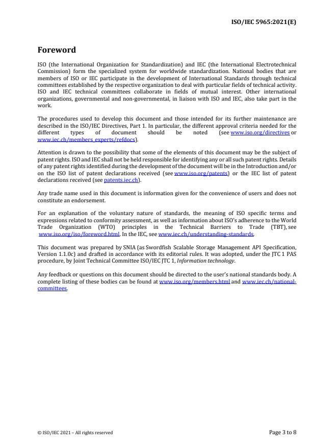 ISO/IEC PRF 5965:Version 03-jul-2021 - Information technology -- Swordfish Scalable Storage Management API Specification