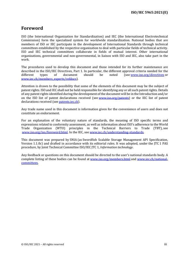 ISO/IEC 5965:2021 - Information technology -- Swordfish Scalable Storage Management API Specification