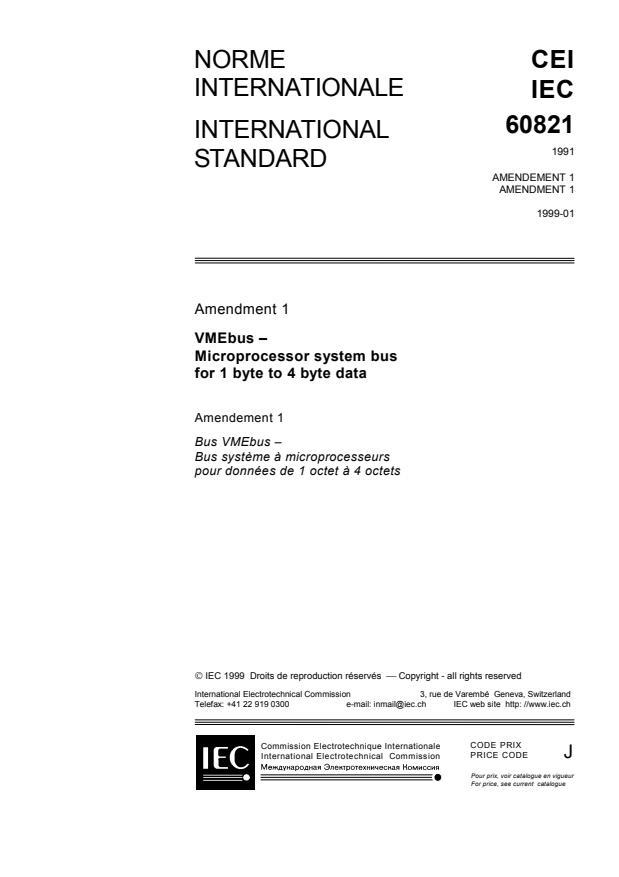 IEC 60821:1991/Amd 1:1999