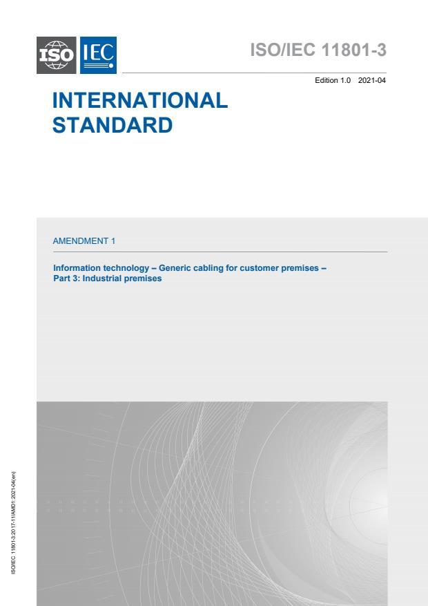 ISO/IEC 11801-3:2017/Amd 1:2021