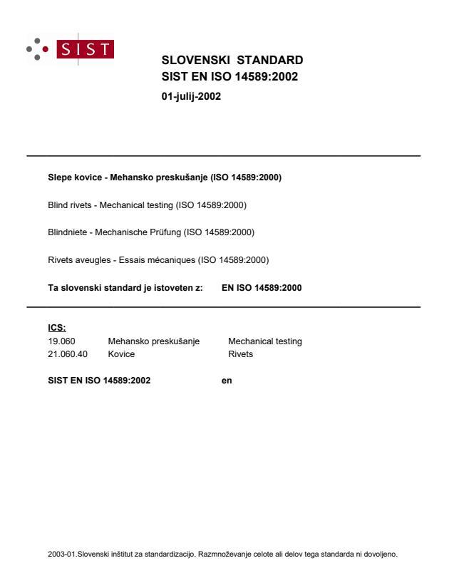 SIST EN ISO 14589:2002