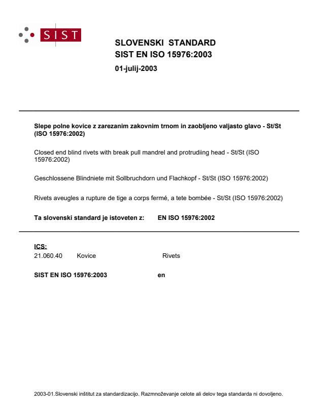 EN ISO 15976:2003