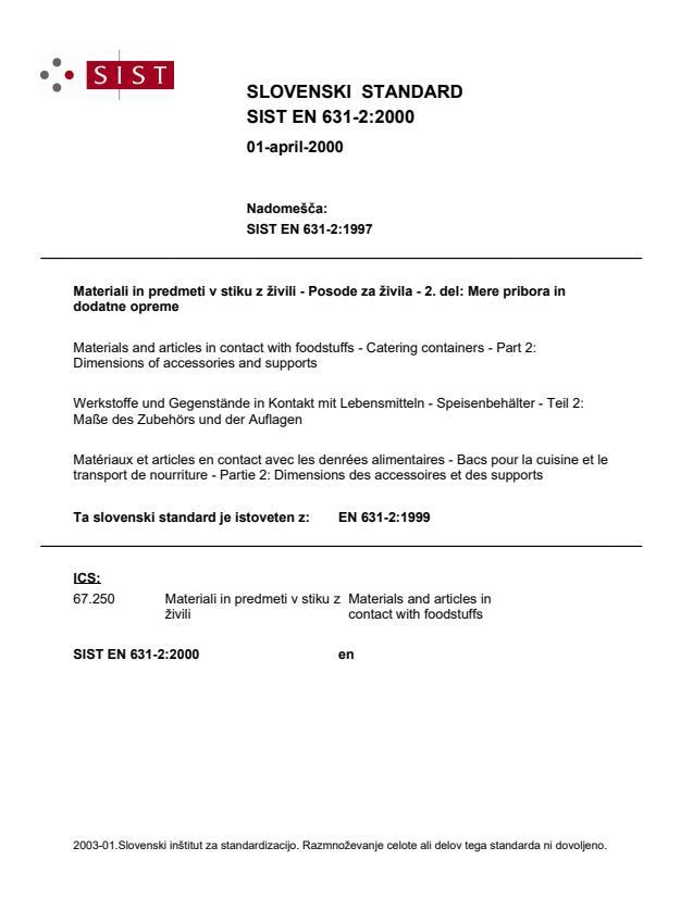 EN 631-2:1999